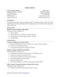 resume sample college activities resume for college template