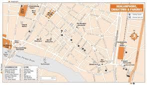 Bangkok Map Bangkok Hualamphong Chinatown And Pahurat Map Bangkok
