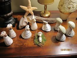 one of my favorite nativity scenes made from shells purchased at