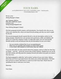 What Do Cover Letters Look Like how to write a great cover letter 40 templates resume genius