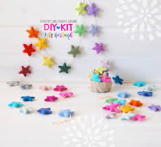 diy garland kit felt garland diy kit colorful garland