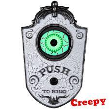 halloween eye doorbell ring animated prop home entryway scary