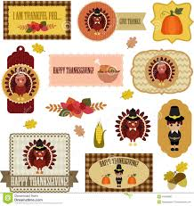 thanksgiving clip set eps stock vector image 26438655