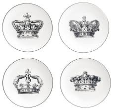 crown appetizer plates set of 4 salad and