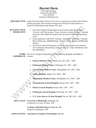 tech resume examples surgical technologist resume sample surgery hospital