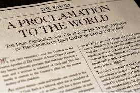 family proclamation why isn t the proclamation on the family a part of our canon of