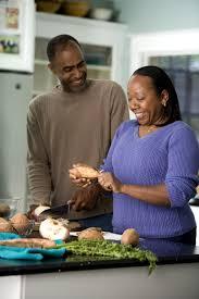 free picture man woman couple work kitchen