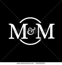 m m design mm logo stock vector 640583653