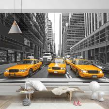 online buy wholesale new york taxi wallpaper from china new york 2017 new modern building design grey background yellow taxi car 3d wall paper and mural pw1435730350
