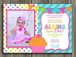 birthday thank you card colorful cupcake birthday photo invitation 1st birthday