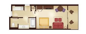 Bay Lake Tower One Bedroom Villa Floor Plan Animal Kingdom Villas Kidani Village Dvc Rental Store