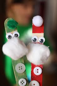 craft stick santa and reindeer happy hooligans