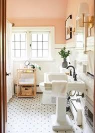 Decorating A Bathroom Before U0026 After All Hail The Pink Bathroom Design Sponge