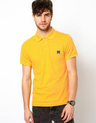 bench polo shirt in yellow for men lyst
