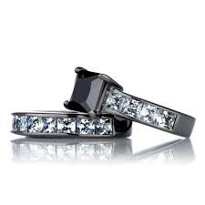 wedding ring sets for him and cheap black cz wedding ring set