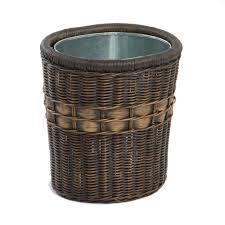 Decorative Recycling Containers For Home Wicker Waste U0026 Recycling Cans Baskets And Bins The Basket Lady