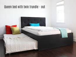 ikea bed how to build a queen bed with twin trundle ikea hack