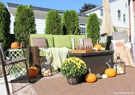 Fall Patio Fall Front Porch And Fabulous Urn Planter Fox Hollow Cottage Arafen