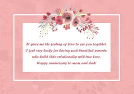 wedding wishes to parents happy wedding anniversary wishes for parents quotes status and