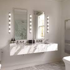 theatrical style over bathroom mirror light 5 globe bulbs on