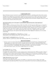 Resume For Marketing And Sales Marketing And Sales Resume Objective Cv Sample For Entry Level Ma