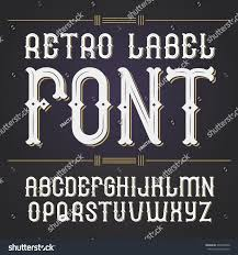 Good Business Card Font Vector Font Whiskey Label Style Font Stock Vector 405270400
