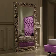 large luxury italian rococo champagne leaf mirror juliettes