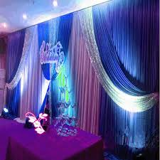 wedding backdrop blue online shop luxury sequins wedding backdrop swags 3x6m 20ft w x