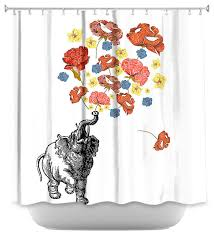 Deny Shower Curtains Elephant Shower Curtain Deny Elephant Shower Curtain With A Deep