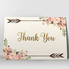floral thank you card printable thank you from digartdesigns on