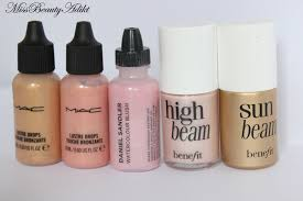 m i s s b e a u t y a d i k t the low down on liquid highlighters