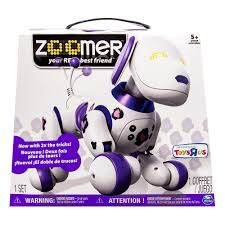 zoomer bentley zoomer funky 2 0 purple zoomer robot dog in electronic pets
