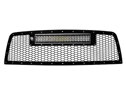 dodge ram white grill 2010 2012 dodge ram 2500 3500 grille with 20 rigid industries