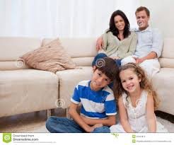 happy family in the living room stock photos image 22344873