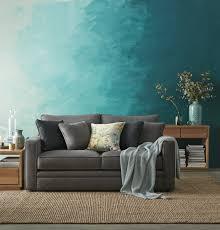 türkise wandgestaltung wohnzimmer wandgestaltung mit farbe ombre wand streichen