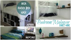 From Small Bedroom To Library Diy Ikea Platform Bed Made From Kallax Expedit Bookcase Chelsea