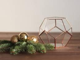 glass geometric terrarium gardening gift fall decor holiday