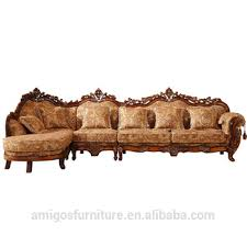 Luxurious Teak Wooden Arab Sectionnal Wooden Sofa Set Design Buy - Teak wood sofa set designs