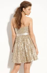 way in sequined party dress juniors in metallic lyst