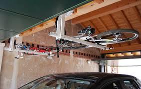 ceiling overhead bike rack for mountain bike trekking bike