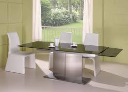 Expandable Dining Room Tables Modern by Dining Room Table And Chairs For Small Spaces Brown Glass Dining