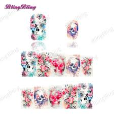 aliexpress com buy 2pcs halloween theme nail art sticker