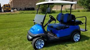 club car club car precedent blue demon loaded edition with custom rims