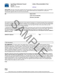 sample letter of recommendation form lsac original government