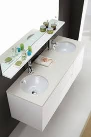 double bathroom vanity unit with stone top brown cabinet 1500mm