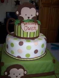 monkey baby shower cake monkey baby boy shower cake from baby shower