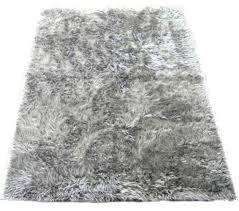 Silver Shag Rug Dark Silver Faux Fur Flokati Rug Area Rugs By Ecofo