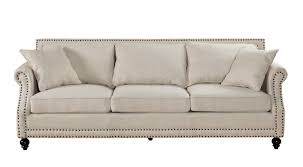 Grey Linen Sofa by Furniture Camden Sofa With Classic Style For Your Home