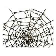 sizzix thinlits die set by tim holtz cobweb
