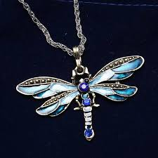 gold animal pendant necklace images Long jewelry sweater necklace for women gold animal dragonfly jpg